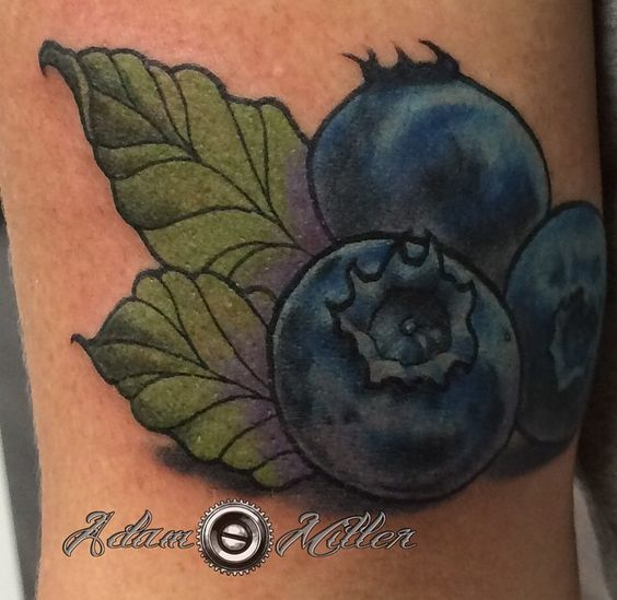 blueberry tattoo by adam miller at deep roots tattoo and body piercing in seattle tattooshop. Black Bedroom Furniture Sets. Home Design Ideas