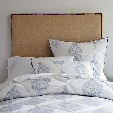 DIY head board + medallion shams