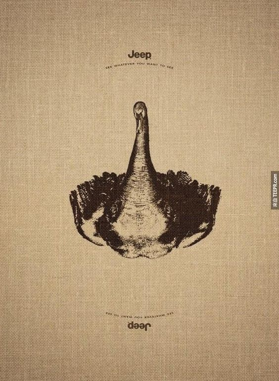 or a swan flipped over?