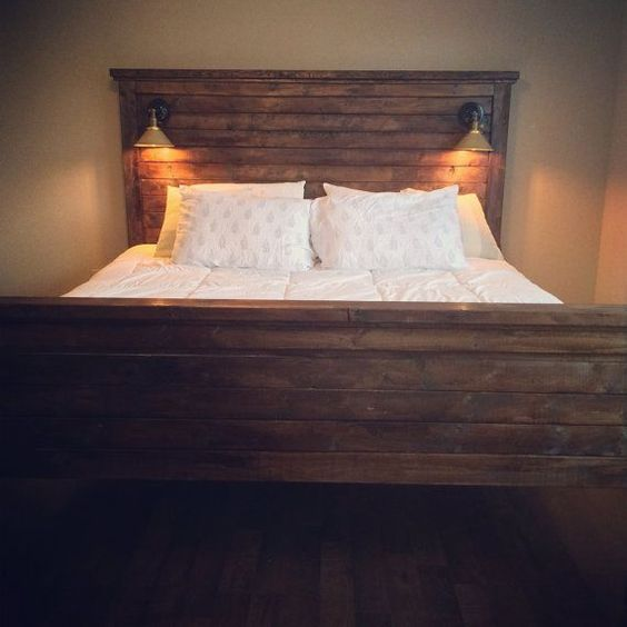 photos diy headboards and lights on pinterest. Black Bedroom Furniture Sets. Home Design Ideas