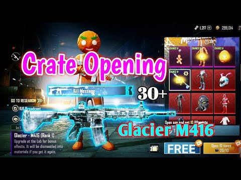 Classic Crate Opening For Glacier M416 Classic Legendary Crate Opening Pubg Mobile Youtube Crates Mobile Phone Game G Photos