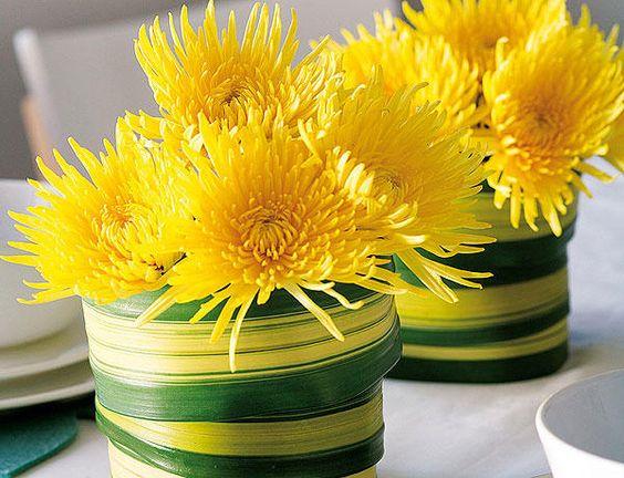 Crisantemos amarillos.: