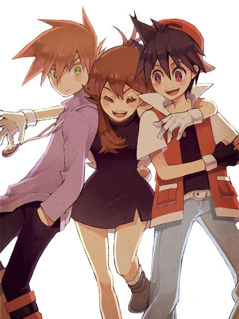 Pokemon Adventures (manga) -- Green, Blue, and Red