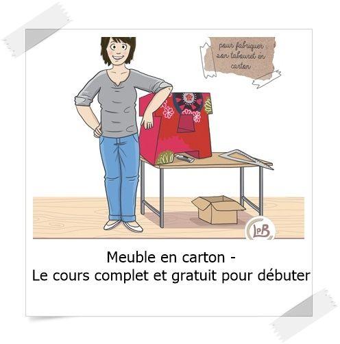Meuble En Carton Le Cours Complet Et Gratuit Pour Debuter Lpb Carton Meuble En Carton Meuble En Carton Tuto Carton