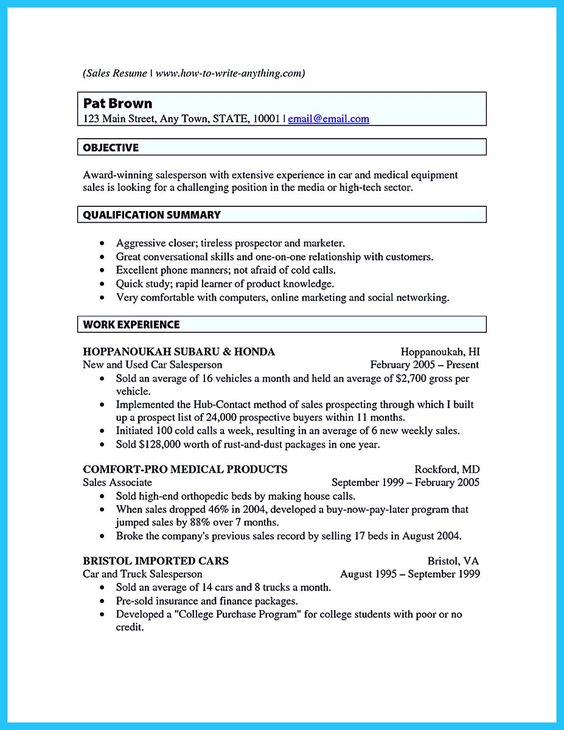 Awesome Captivating Car Salesman Resume Ideas For Flawless Resume