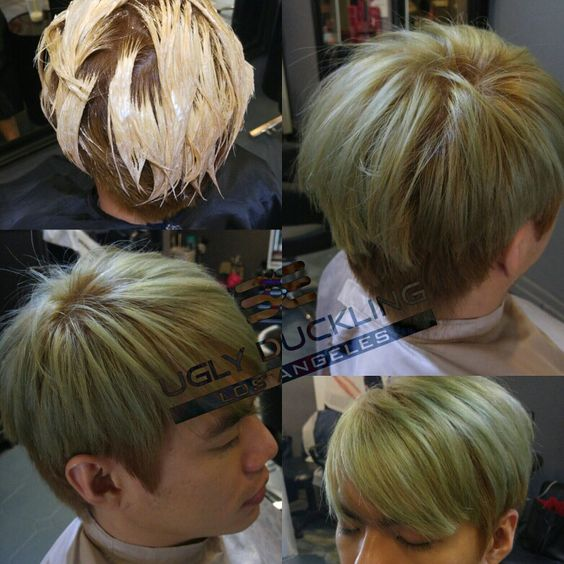 asian mens hair color to ash greenhairstylingsgsalon