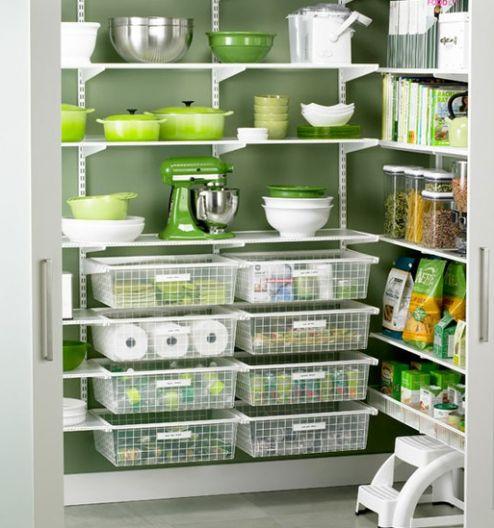 green, kitchen pantry