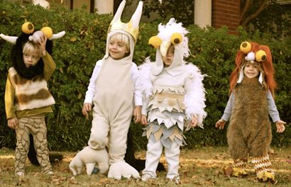 Homeade halloween costumes-Where the Wild Things Are- and they are QUADS!