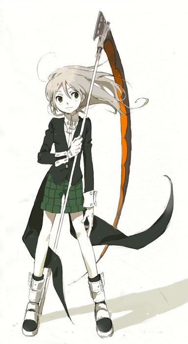 Soul Eater, Maka and Soul /// So that's how Maka look like without the twintails... Lovely! <3