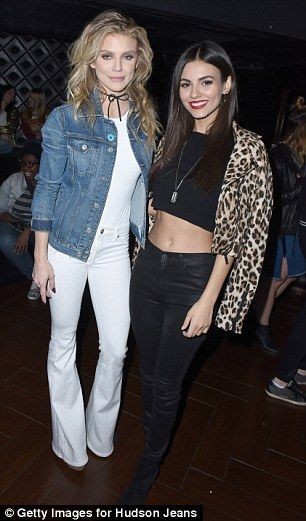 Side by side: AnnaLynne and Victoria posed for a snap at the event......
