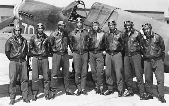 The Tuskegee Airmen: 5 Fascinating Facts:  1. The Tuskegee airmen once shot down three German jets in a single day.  2. Thurgood Marshall, the future Supreme Court justice, got his start defending Tuskegee bomber trainees.  3. The Airmen might have never gotten off the ground without Eleanor Roosevelt's help.  4. A former Tuskegee airman almost shot the late Libyan leader Muammar el-Qaddafi in a showdown outside of Tripoli in 1970.  5. Three Tuskegee airmen went on to become generals.