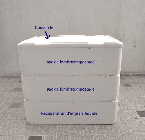 Le mat riel pour construire un lombricomposteur 3 tages - Bac potager a etage ...