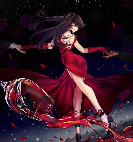 Rin in a gorgeous red dress - Imgur
