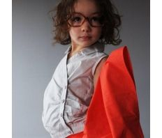 Silk and cotton girls shirt by French designer Anton et Zea  only at www.claradeparis.com