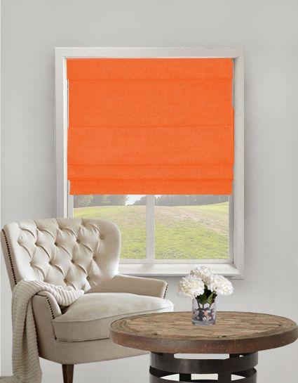 Fagel Orange Roman Blinds