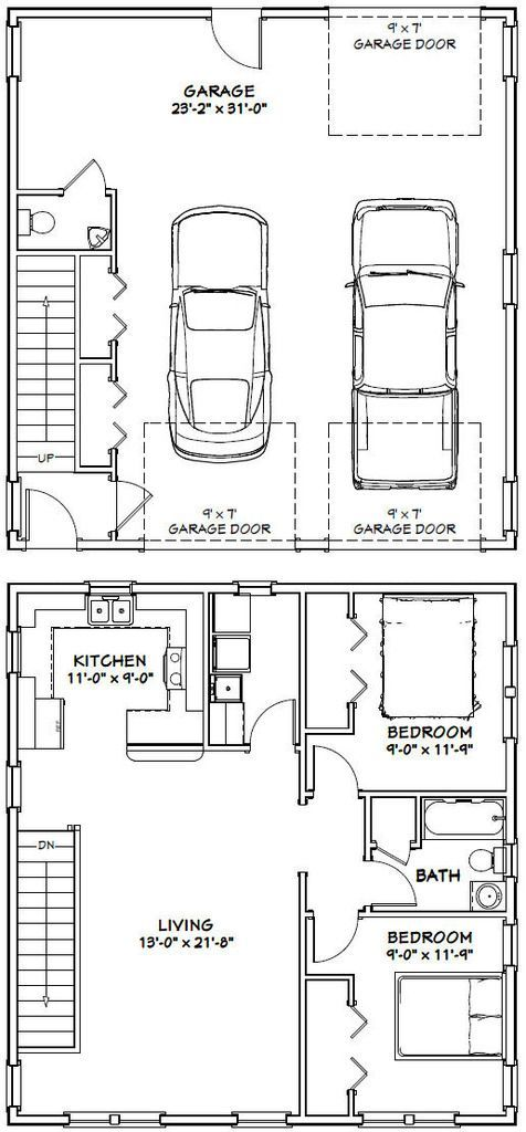 Good Plan Except I D Move Laundry To Bathroom To Enlarge The Brm Garage Floor Plans Garage Apartment Plans Carriage House Plans
