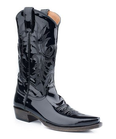 Stetson Black Patent Cowboy Boot - Women | Cowboy boots women ...