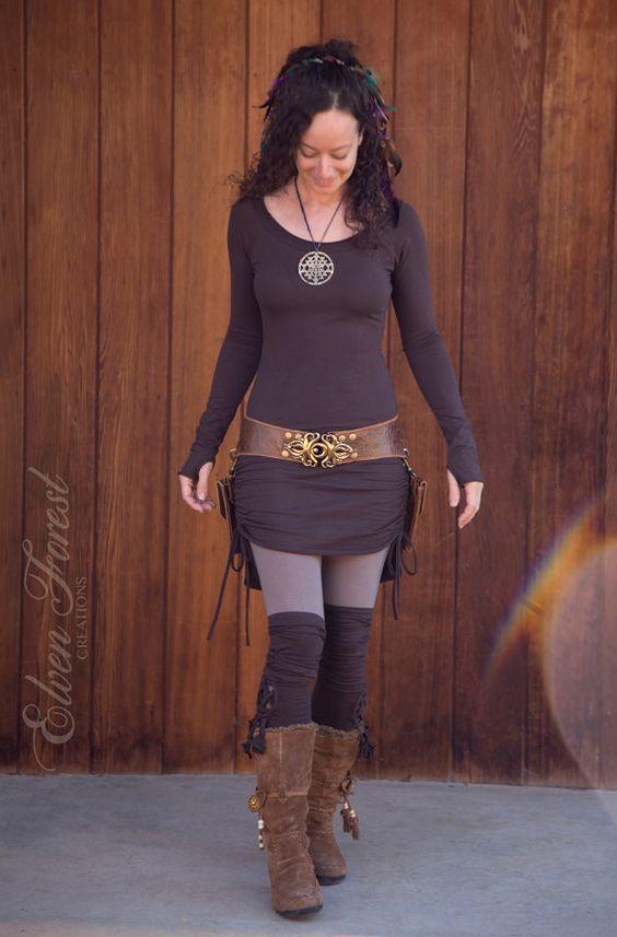 RESERVIERT für LISA  Hi-Lo Scrunchie-Kleid  von ElvenForest auf Etsy