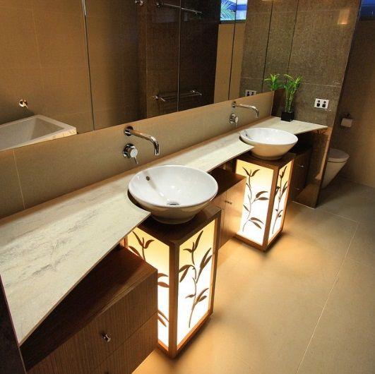 17. Light-up bathroom sinks