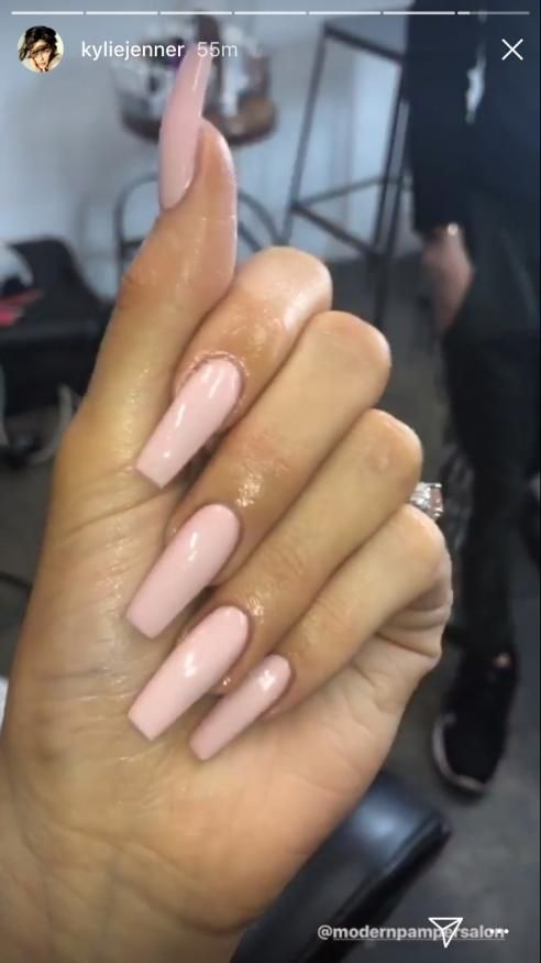 Acrylicnails Acrylic Nails Square In 2020 Kylie Nails Square Acrylic Nails Kylie Jenner Nails