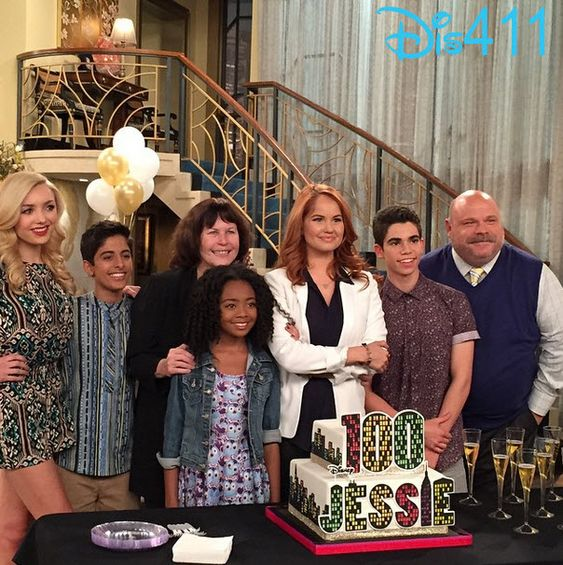 """Photo: Cast Of """"Jessie"""" Celebrated Their 100th Episode On Set February 13, 2015 - Dis411"""
