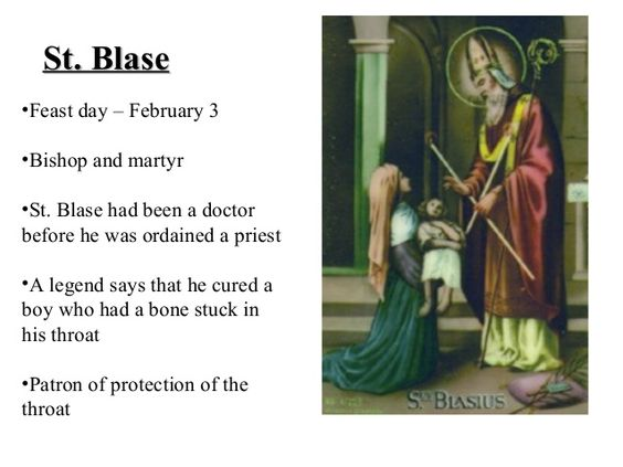 PRAYER TO ST BLAISE AGAINST THROAT DISEASES AND OTHER ILLNESSES #pinterest O Blessed St Blaise, you received from God the power to protect men from throat diseases and other maladies. Intercede for me when illness that afflicts me, keep my throat healthy and perfect so that I may be able to proclaim and sing praises to God...........| Awestruck Catholic Social Network