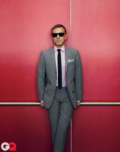 The GQ Guide to Suits: Style: GQ: Grey Suit Pink Shirt, Christoph Waltz, Grey Suits, Mens Fashion, Suits Styles, Mensfashion, Pink Shirts