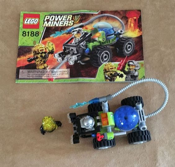 8188 Lego Fire Blaster Complete instructions Power Miners minifig rock raider #LEGO