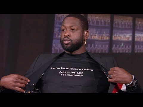 Dwyane Wade Wears Custom Shirt Supporting Breonna Taylor The Arena On The Tuesday Edition Of The Arena Dwyane Wade Wore In 2020 Custom Shirts Dwyane Wade Supportive