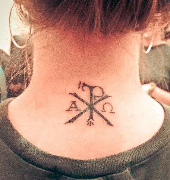 If I ever got a tattoo, I think I would want it to have the chi rho symbol