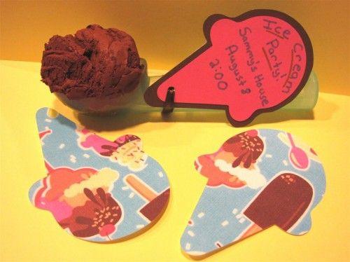 Ice cream cone invitation. :):