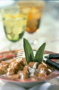 Sweet potato gnocchi with Marscarpone cheese sauce...yes loveys, this will be part of Xmas dinner!