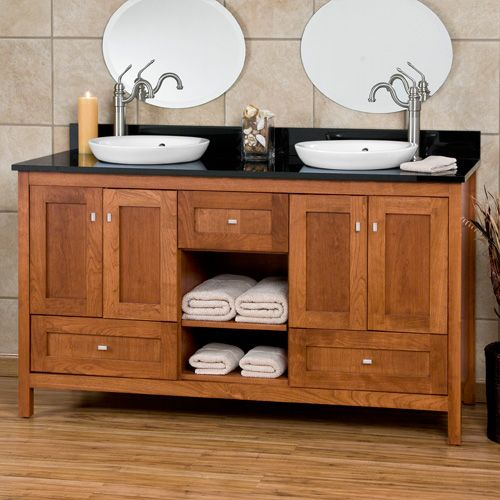 Bath Vanity Cabinets Craftsman Shaker Vanities 60 Alcott Vanity Cabinet With Semi Recessed