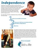 A helpful PDF to share with parents, perhaps as an article on the parent website?