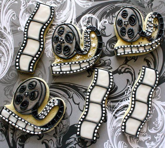cookies - roll of movie reels and films