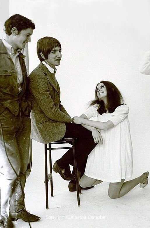 Alan Rickman at Chelsea School of Art in the 60s - photoshoot by Alastair Campbell: