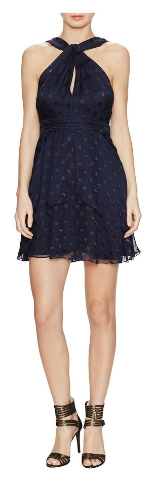 Diane von Furstenberg Silk Knotted Halter Dress - on #sale 58% off @ #Gilt  #DianeVonFurstenberg