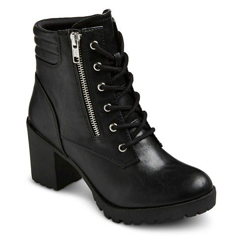 Women's Mossimo Supply Co Easton Chunky Heel Combat Boots - super ...