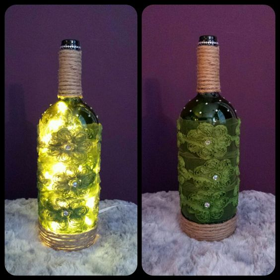 Wine bottle lamp wine bottle lamp candle glass candles diy wine bottle lamp wine bottle lamp candle glass candles diy crafts home made craft solutioingenieria Image collections