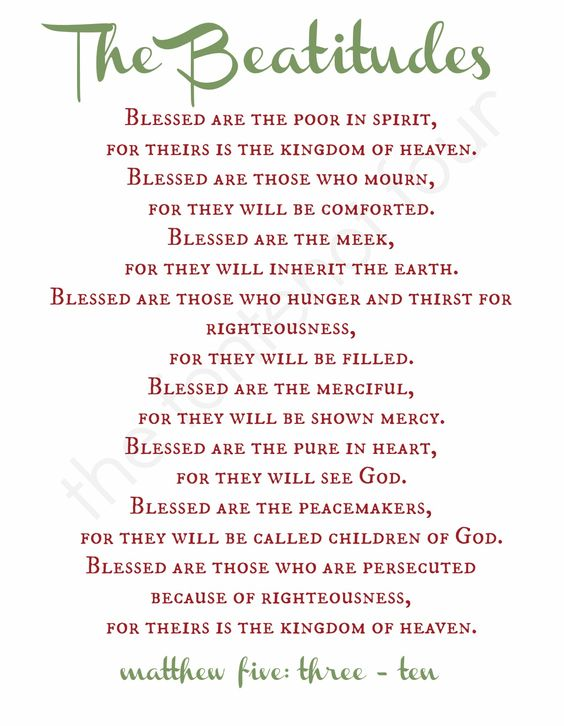 The Beatitudes :: The Fontenot Four: The Daniel Fast - Day 14 Devotional