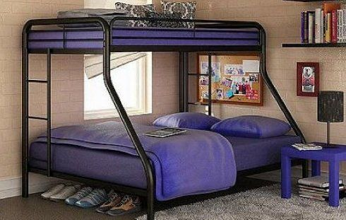 Center Childrens Loft Bunk Bed Furniture Full Size Twin Beds For