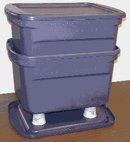 Vermicomposting: cheap and easy worm bin - .  What do you do when the worms keep multiplying?  I just put them all in my garden to find their death.   :/