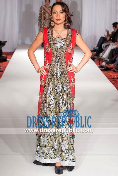 Pakistani red bridal dresses 2014