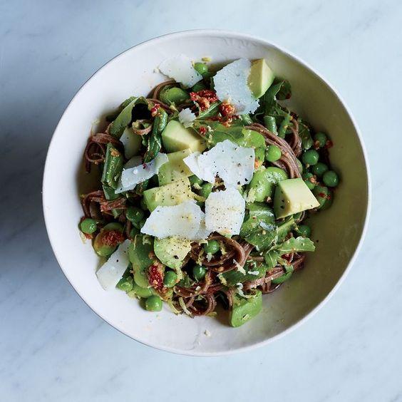 noodle soba noodle soba noodle salad with spring vegetables recipes ...