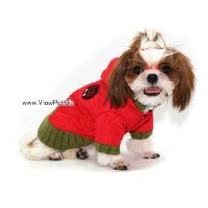 【犬用コート/M/レッド】防寒ダウンコート・犬服コート・人気犬の服通販