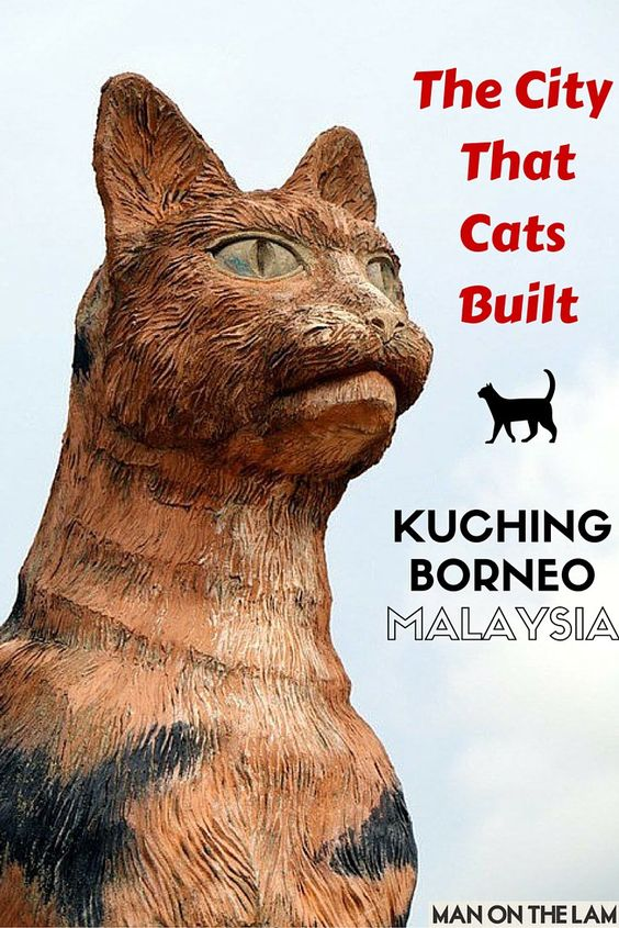 The City That Cats Built -- Kuching, Borneo, Malaysia #cats #oddities #malaysia http://manonthelam.com/cat-city-kuching-sarawak-borneo-malaysia/