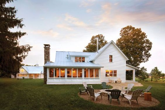 This Lovely Farmhouse Features All The Classic Characteristics Of Beautiful Old Farmhouses A Porch Swing Sits