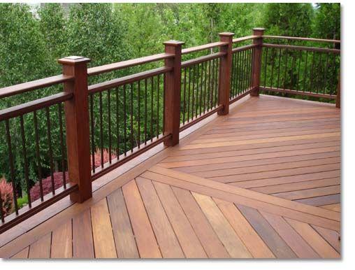 Terrasses balustrades and terrasses en bois on pinterest for Timber decking handrail