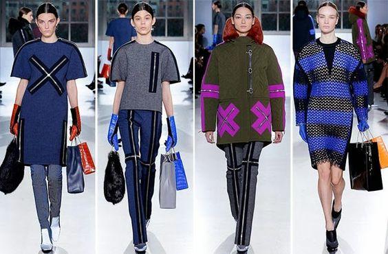 Alexander Wang para Balenciaga FW2015 en el Paris Fashion Week