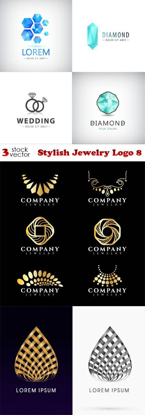 Check the way to make a special photo charms, and add it into your Pandora bracelets. Vectors - Stylish Jewelry Logo 8                                                                                                                                                                                 More